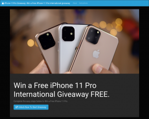 iPhone 11Pro Giveaway -Win a Free iPhone 11 Pro international giveaway