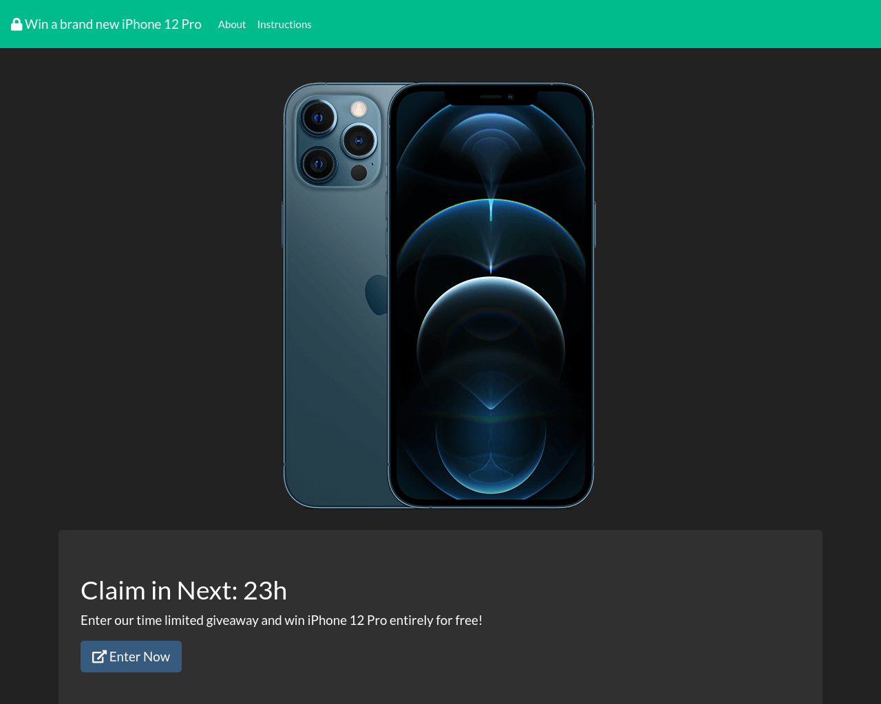 Win a brand new iPhone 12 Pro