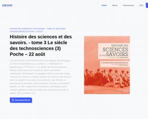 Histoire des sciences et des savoirs.