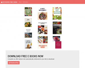 KETO RECIPES - FREE E-BOOKS