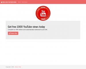 Get free 1000 YouTube views