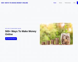 500+ Ways To Make Money Online