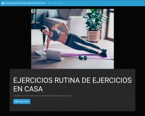 EJERCICIOS  RUTINA DE EJERCICIOS EN CASA