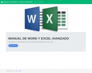 MANUAL DE WORD Y EXCEL AVANZADO