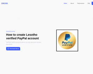 How To create Lesotho PayPal account