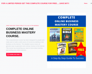 COMPLETE ONLINE BUSINESS MASTERY COURSE